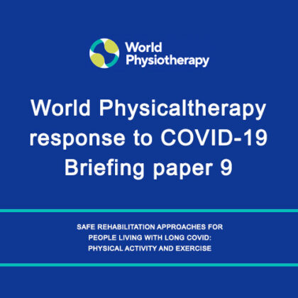 World Physicaltherapy response to COVID-19